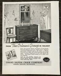 1940 Grand Rapids Chair Co Print Ad From The Orleans Group In Walnut