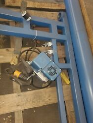 Gorbel Jib Crane With Lift 150lb Hoist With 8' Reach And 10' Clearance Electric