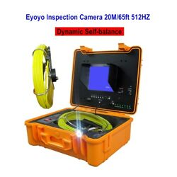 7 20m Waterproof Pipe Inspection Sewer Camera Dvr 512hz Dynamic Equilibrium Cam