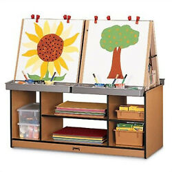 Rainbow Accents 4 Station Easel Black