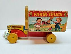 Vintage Fisher Price Farm Truck 845 Good Condition Rare Campbell's Kid