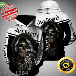Hot Jack Daniels Death Skull 3d Hoodie Tank Top- High Quality