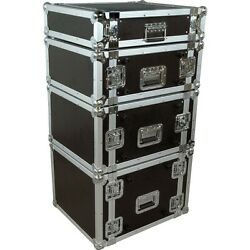 Musicianand039s Gear Rack Flight Case 4 Spaces Black