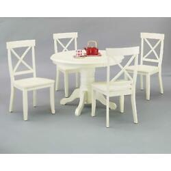 Home Styles Round Dining Table And Dining Chairs Antique White