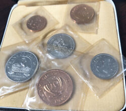 1966 Bank Of Uganda Proof Coin Set W/ Box Coins Are Still Sealed