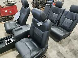 2014-2018 Toyota Tundra Seat Set Front/rear Lh/rh W/bag Leather Electric Heated