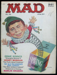 Mad Magazine Number 33 - April 1957 - Norman Mingo Cover Spring Issue Comic Book
