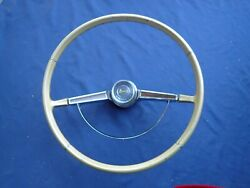 1965-66 Chevy Impala Steering Wheel Assembly, Gold, Nice