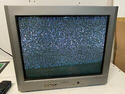 """Emerson Tv Ewf2004a Flat Panel 20"""" Crt Gaming Vintage With Remote"""