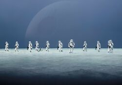 Giant Wallpaper 368x254cm Star Wars Scarif Beach Stormtroopers Kids Wall Mural