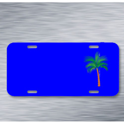Palm Tree Exotic Vacation Tropical On License Plate Car Front Add Names