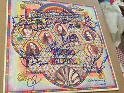 Lynyrd Skynyrd Signed Second Helping X9 Gary Billy Coach Burns Pyle Leslie Coope