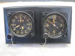 Ww2 Military. Working, Elgin Clock And Stopwatch, An Extremely Rare Combination