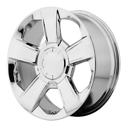 20x9 4 Wheels Rims Oe Creations Pr152 Chrome +27mm 6x139.7