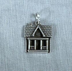 James Avery 925 Sterling Silver Farmhouse Cottage Cabin Pendant Charm