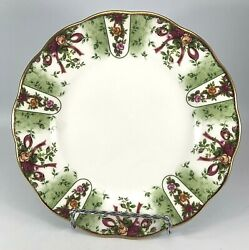 Royal Albert 2001 Old Country Roses Ruby Celebration Green Damask Salad Plate 8