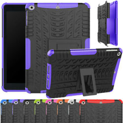 For Ipad Air 1 2 3 Hybrid Soft Tpu Protective Case Rugged Armor Stand Cover