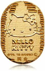 [hello Kitty] Hello Kitty Pure Gold Oval 24 Gold Oval 1g Hello Kitty 45 Annivers