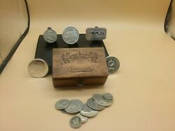 Silver Bullion Lot -approx 16 Troy Ounces, Inside Royal Wooden Box- Very Cool
