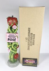 """Angry Orchard Rose Hard Apple Cider Beer Tap Handle 11"""" Tall - Brand New In Box"""