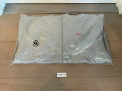Fw20 Supreme Small Box Logo Face Mask Zipup Hoodie Heather Gray Size X-large