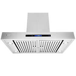 Xtremeair Px06-i42 Island Mount Range Hood With 900 Cfm Easy Clean Swing-able Ba