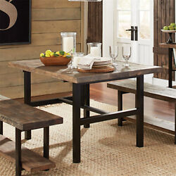 Bolton Furniture Pomona Metal And Reclaimed Wood Dining Table