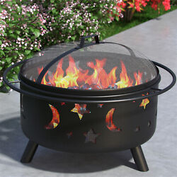 Regal Flame Solar 23 Portable Outdoor Fireplace Fire Pit Ring For Backyard Patio