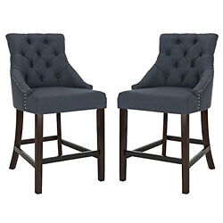 Eleni Tufted Wing Back Counter Stool