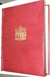 1952 Edition Of Royal Philatelic Collection, By Sir John Wilson. Leather Bound