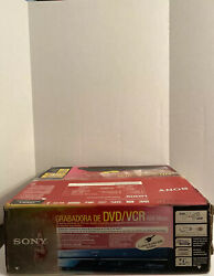 New Open Boxsony Rdr-vx525 Dvd-rw Recorder Vhs Vcr Combo Video Cassette Player