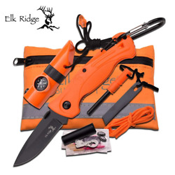 Ultimate Survival Kit 6.75 X 4.25 Pouch Size - Knife, Fire Starter, Whistle, C