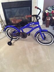 Rare Hh Hiland 16 Inch Kids Bike W/training Wheel. Hard To Find Blue. Newother