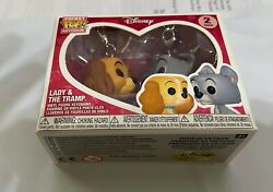 Funko Pop Disney's Lady And The Tramp 2 Pack Keychain Box Exclusive Pack Set