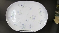Mikasa Spring Melodies Fv 903 Light Touch 11x14.5 Oval Serving Platter Tray