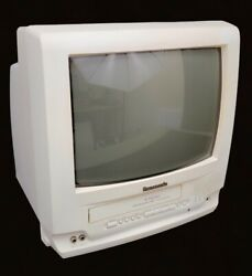 Panasonic Omnivision 13 Inch Tv/vcr Combo Old School Gaming Television Pv-c1350w
