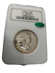 1956 Type 1 50c Silver Proof Franklin Half Dollar With Fbl And Cac Ngc Pf 67