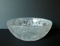 Vintage Lalique Pinsons Crystal Art Glass Bowl -before 1978