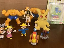 Lot Of 10 Vintage 90s Mixed Action Figure Lot Plastic Smalls Various Toys