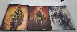 The Hunger Games Blu-r Steelbooks Collection Lot Of 3... Please Read Description