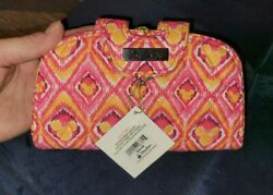 Disney Vera Bradley Bouncing Bouquet Snap N Kiss Wallet Pink Clutch New With Tag