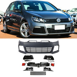 R20 Style Front Bumper Cover W/ Led Drls W/ Grille For Volkswagen Golf 6 12-13