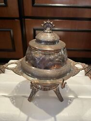 Antique Victorian Middletown Plate Co Quadruple Plate Butter Caviar Cheese Dish