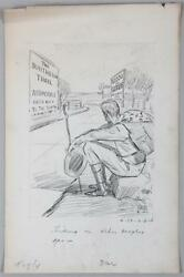 Harry C. Temple American Illustrator And039hiking On Other Peopleand039s Gas Dated