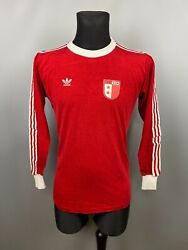 Sion 1970and039s Away Shirt 11 Match Worn Football Soccer Erima/adidas Size M