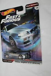 Hot Wheels Nissan Skyline Gt-r Bnr34 Fast Furious Imports Gtr 2019 Real Riders