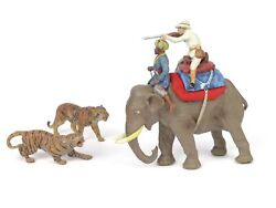 Pfeiffer Toy Soldiers Historical Great White Hunter Elephant Mahout And Tigers