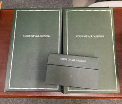 Coins Of All Nations Set 150 Unc Coins And Stamps Franklin Mint With Info Cards