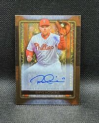 2020 Topps Tribute Rhys Hoskins Iconic Autograph And039d /80 Phillies