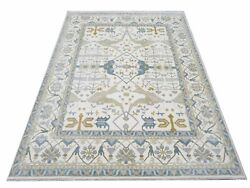 12x15 Oushak Area Rug Ivory Hand-knotted Wool Carpet 12' X 15'5